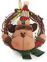 Недорогие -Рождественские украшения Праздник Нетканый материал Круглый Оригинальные Рождественские украшения