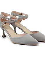 Недорогие -Жен. Балетки Замша Весна Обувь на каблуках На шпильке Черный / Серый / Розовый