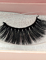 cheap -Eyelash Extensions False Eyelashes 2 pcs Professional Volumized Natural Curly Animal wool eyelash Event / Party Daily Wear Thick Natural Long - Makeup Daily Makeup Classic & Timeless Trendy Cosmetic