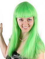 billiga -Syntetiska peruker / Kostymperuker Rak Bob-frisyr Syntetiskt hår 28 tum Moderiktig design / Cosplay / Mjuk Grön Peruk Dam Lång Maskingjord Grön