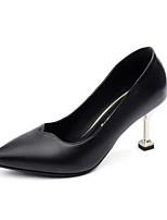 Недорогие -Жен. Комфортная обувь Полиуретан Весна Обувь на каблуках На шпильке Черный / Серый