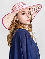 Недорогие -Жен. Классический Соломенная шляпа С принтом
