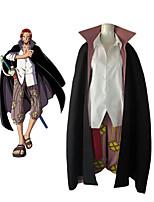 economico -Ispirato da One Piece Shanks Anime Costumi Cosplay Abiti Cosplay Monocolore Manica lunga Camicia / Pantaloni / Mantello Per Per uomo Costumi Halloween