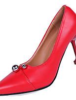 Недорогие -Жен. Полиуретан Лето Туфли лодочки Обувь на каблуках На шпильке Заостренный носок Черный / Бежевый / Красный / Для вечеринки / ужина
