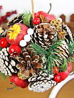 baratos -Enfeites de Natal Férias De madeira Redonda de madeira Decoração de Natal