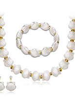 cheap -Women's Stylish Jewelry Set - Pearl Creative Stylish, European Include Drop Earrings / Necklace / Bracelet Silver For Wedding / Daily