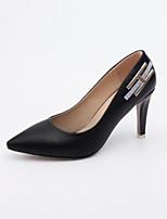 Недорогие -Жен. Комфортная обувь Полиуретан Зима Обувь на каблуках На шпильке Белый / Черный / Розовый
