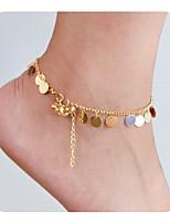 Недорогие -Стильные лодыжке браслет - Везучий Простой, Классический Золотой Назначение Подарок Официальные Жен.