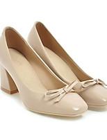 baratos -Mulheres Sapatos Confortáveis Couro Ecológico Primavera Saltos Salto Robusto Preto / Marron / Amêndoa