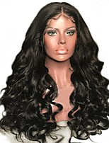 cheap -Human Hair Lace Front Wig Brazilian Hair / Burmese Hair Loose Wave Wig 130% Women / Easy dressing / Best Quality Natural Women's Long Human Hair Lace Wig