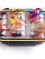 Недорогие -30 pcs штук рыболовные крючки / Набор для рыбалки / Рыболовные принадлежности Мухи Перья / Углеродистая сталь Простая установка / Легкий и удобный