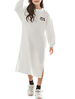 cheap -Kids Girls' Letter Long Sleeve Dress