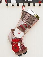 economico -Calze di Natale Vacanza Poliestere Cubo Originale Decorazione natalizia