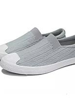 Недорогие -Муж. Комфортная обувь Полотно Лето Мокасины и Свитер Черный / Серый / Винный