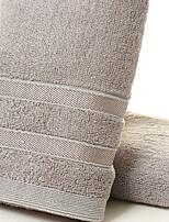 abordables -Qualité supérieure Serviette, Couleur Pleine 100% Fibre de bambou Salle de  Bain 1 pcs