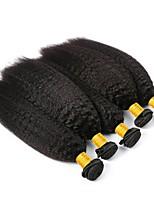 abordables -6 offres groupées Cheveux Brésiliens Droit Yaki Non Traités / Cheveux humains Cadeaux / Costumes Cosplay / Tissages de cheveux humains 8-28 pouce Couleur naturelle Tissages de cheveux humains
