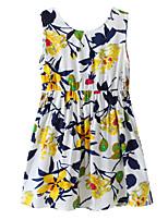 cheap -Kids / Toddler Girls' Sun Flower Floral / Jacquard Sleeveless Dress