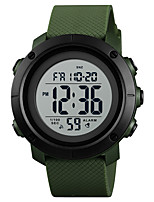 cheap -SKMEI Men's Sport Watch Military Watch Japanese Digital 30 m Water Resistant / Water Proof Alarm Calendar / date / day PU Band Digital Casual Fashion Black / Green - Black / Green Green Black / White