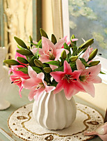 cheap -Artificial Flowers 5 Branch Classic / Single Stylish / Pastoral Style Lilies Tabletop Flower