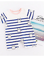 cheap -Baby Girls' Striped Short Sleeves Romper
