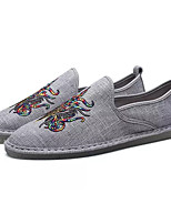 cheap -Men's Comfort Shoes Canvas Summer Loafers & Slip-Ons White / Black / Gray