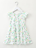 preiswerte -Kinder / Baby Mädchen Cartoon Design / Frucht Kurzarm Kleid