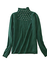 cheap -Women's Pullover - Solid Colored, Beaded