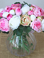 cheap -Artificial Flowers 12 Branch Classic / Single Stylish / Pastoral Style Roses Tabletop Flower
