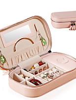 abordables -Espace de rangement Organisation Collection de bijoux faux cuir Forme irrégulière Portable