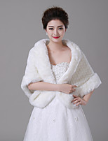 cheap -Sleeveless Faux Fur Wedding / Birthday Women's Wrap With Patterned Capelets