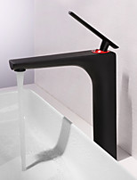 cheap -Bathroom Sink Faucet - Widespread Painting Deck Mounted Single Handle One Hole