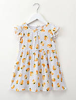 cheap -Kids / Toddler Girls' Polka Dot / Fruit Short Sleeve Dress