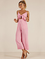 cheap -Women's Street chic Jumpsuit - Solid Colored