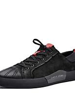 Недорогие -Муж. Комфортная обувь Наппа Leather Весна & осень На каждый день / Минимализм Кеды Черный