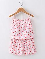 Недорогие -малыш Девочки С принтом Без рукавов Набор одежды