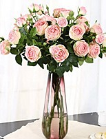 Недорогие -Искусственные Цветы 1 Филиал Классический / Односпальный комплект (Ш 150 x Д 200 см) Стиль / Пастораль Стиль Пионы Букеты на стол