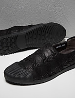 cheap -Men's Comfort Shoes Faux Leather Spring / Fall Loafers & Slip-Ons Black / Light Brown / Khaki
