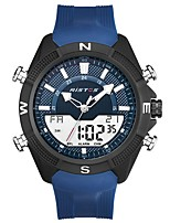 cheap -Men's Sport Watch Quartz Calendar / date / day Silicone Band Analog Casual Black / Blue - Black Black / Blue