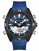 baratos -Homens Relógio Esportivo Quartzo Calendário Silicone Banda Analógico Casual Preta / Azul - Preto Preto / Azul