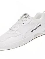 Недорогие -Муж. Полиуретан Осень Удобная обувь Кеды Лозунг Белый / Черный / Бежевый