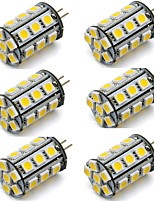 cheap -6pcs 2 W 270 lm G4 LED Bi-pin Lights 24 LED Beads SMD 5050 Decorative Warm White / Cold White 12 V