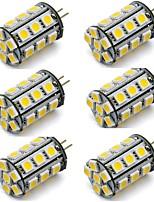 Недорогие -6шт 2 W 270 lm G4 Двухштырьковые LED лампы 24 Светодиодные бусины SMD 5050 Декоративная Тёплый белый / Холодный белый 12 V