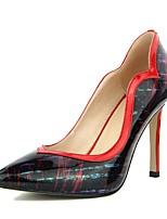Недорогие -Жен. Балетки Лакированная кожа Весна лето Обувь на каблуках На шпильке Золотой / Красный
