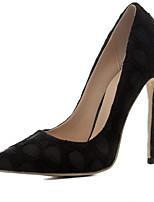 Недорогие -Жен. Замша Весна Туфли лодочки Обувь на каблуках На шпильке Черный