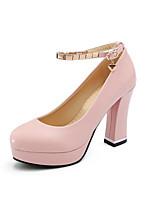 Недорогие -Жен. Комфортная обувь Искусственная кожа / Полиуретан Весна Обувь на каблуках На шпильке Розовый