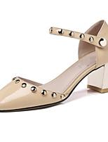 abordables -Femme Chaussures de confort Cuir Nappa Printemps Chaussures à Talons Talon Bottier Noir / Amande