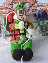 baratos -Enfeites de Natal Férias / Desenho Tecido de Algodão Quadrada Novidades Decoração de Natal