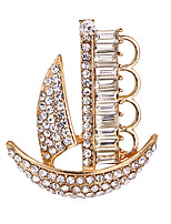 cheap -Women's Cubic Zirconia Stylish Brooches - Ship, Creative Luxury, Baroque, Fashion Brooch Gold / Silver For Daily / Work