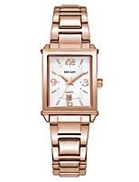 Недорогие -MEGIR Жен. Нарядные часы Наручные часы Японский Кварцевый 30 m Защита от влаги Календарь Cool Медь Группа Аналоговый Мода Элегантный стиль Серебристый металл / Розовое золото -