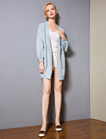 cheap -8CFAMILY Women's Active / Basic Lantern Sleeve Cardigan - Solid Colored, Tassel / Patchwork